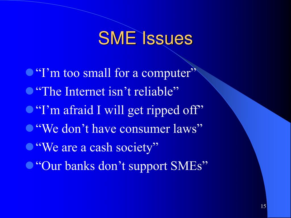 SME Issues