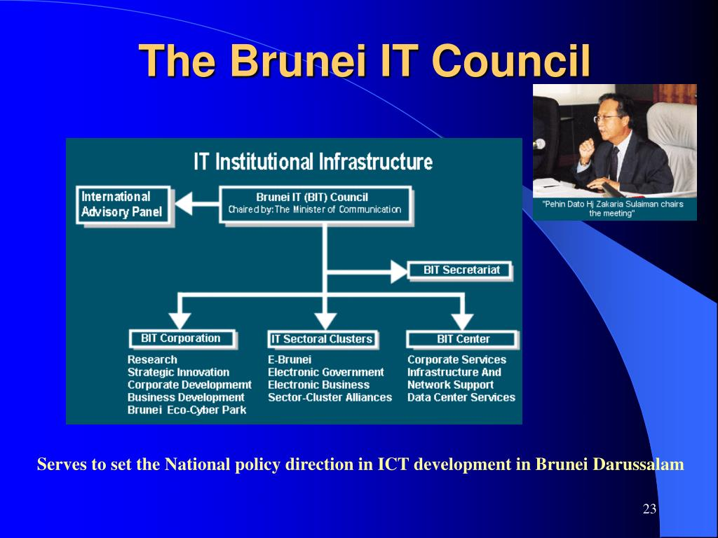 Serves to set the National policy direction in ICT development in Brunei Darussalam