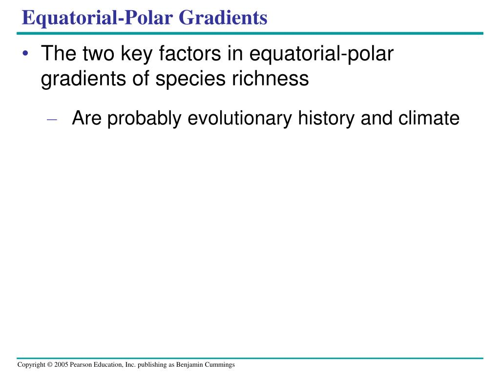 Equatorial-Polar Gradients
