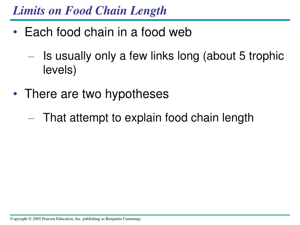 Limits on Food Chain Length