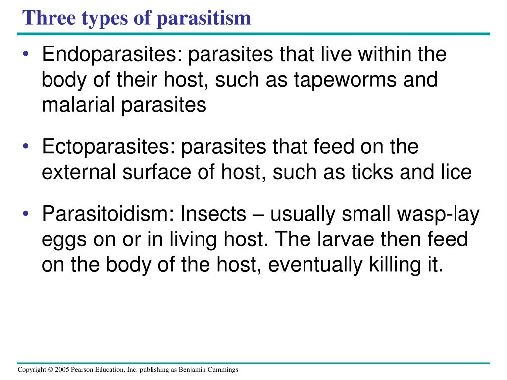 Three types of parasitism