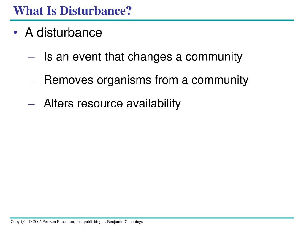 What Is Disturbance?