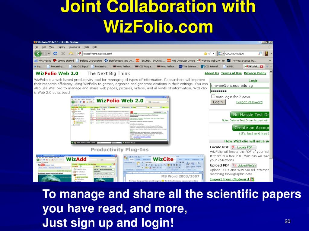 Joint Collaboration with WizFolio.com