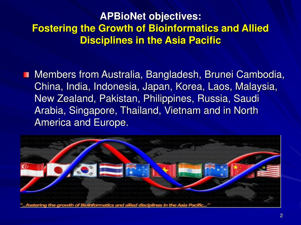 APBioNet objectives: