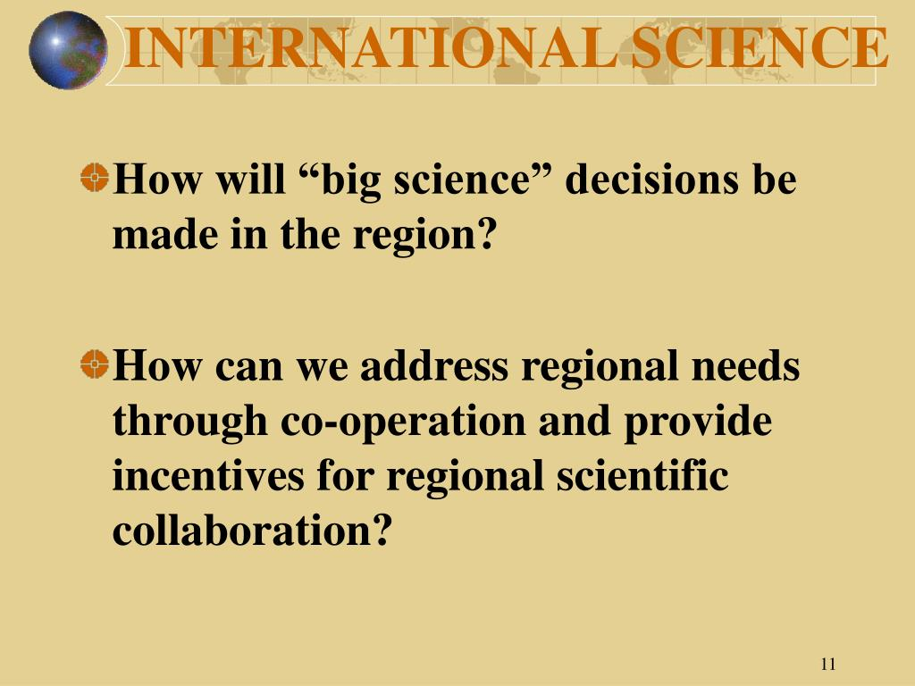 INTERNATIONAL SCIENCE