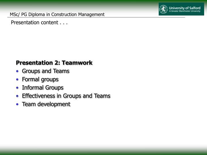 Presentation content . . .
