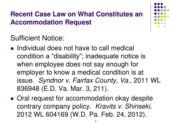 Recent Case Law on What Constitutes an Accommodation Request