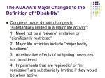 the adaaa s major changes to the definition of disability