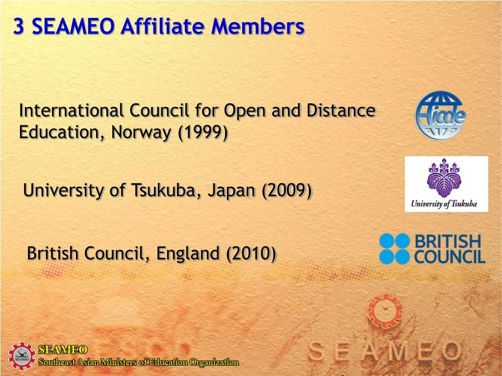3 SEAMEO Affiliate Members