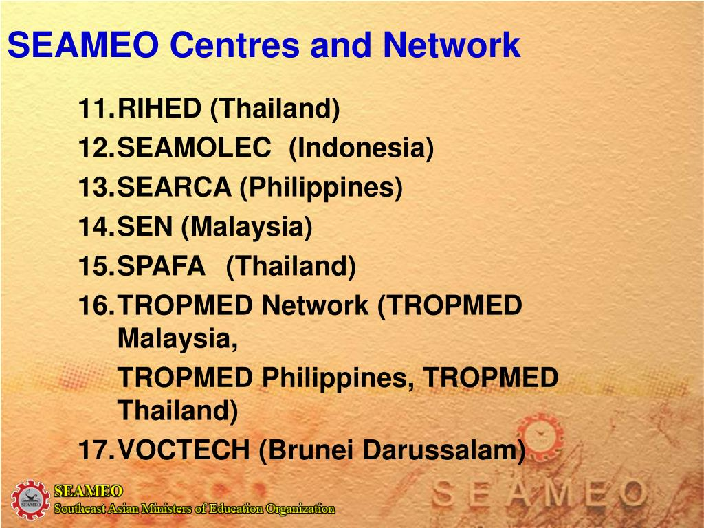 SEAMEO Centres and Network