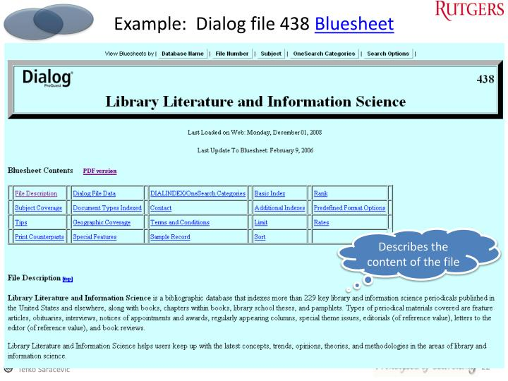 Example:  Dialog file 438