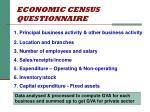 economic census questionnaire
