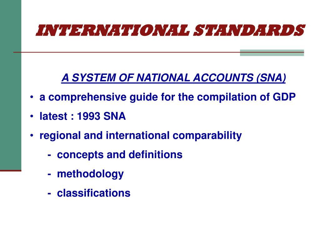 INTERNATIONAL STANDARDS