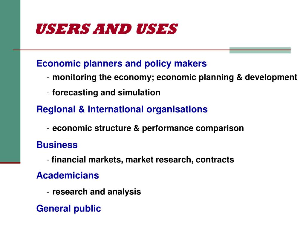 USERS AND USES