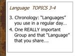 language topics 3 4