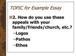 topic for example essay1
