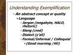 understanding exemplification1