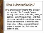 what is exemplification1