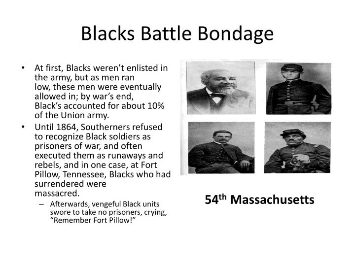 Blacks Battle Bondage