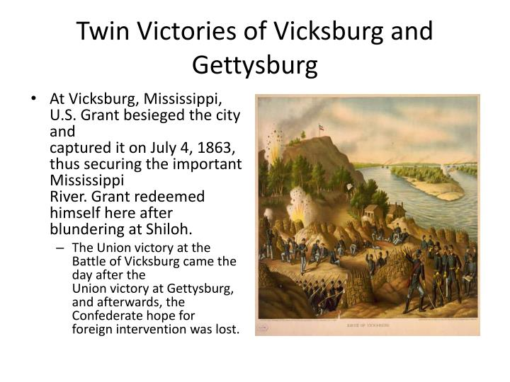 Twin Victories of Vicksburg and Gettysburg