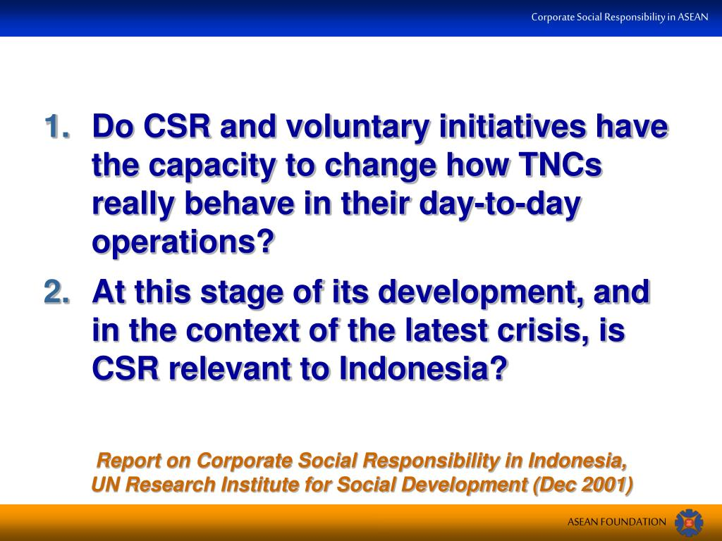 Do CSR and voluntary initiatives have the capacity to change how TNCs really behave in their day-to-day operations?