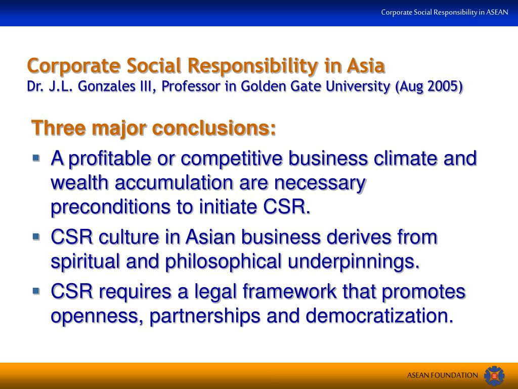 Corporate Social Responsibility in Asia