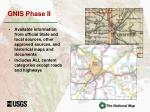 gnis phase ii