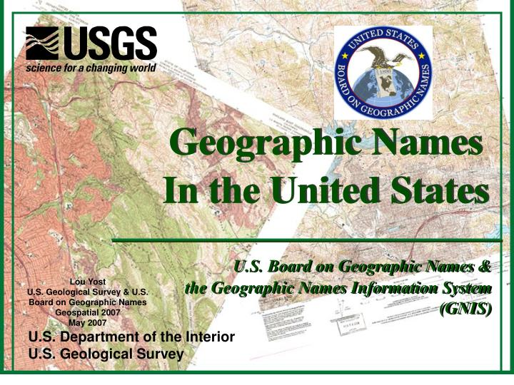 Geographic Names