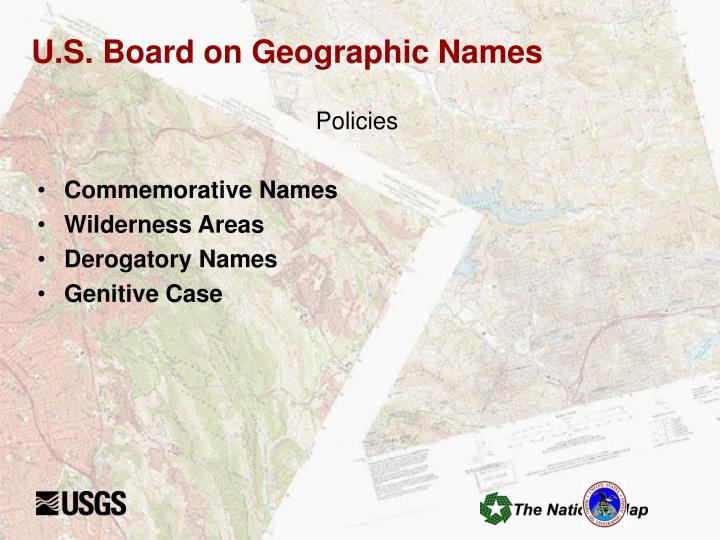 U.S. Board on Geographic Names