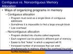 contiguous vs noncontiguous memory allocation