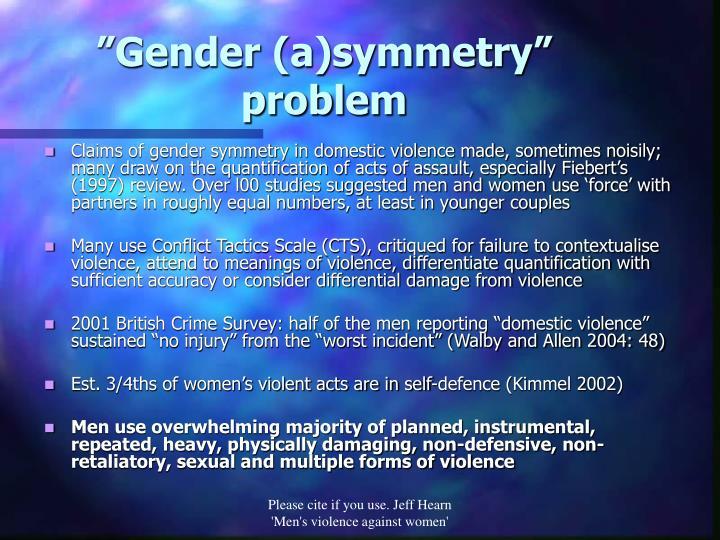 """Gender (a)symmetry"" problem"