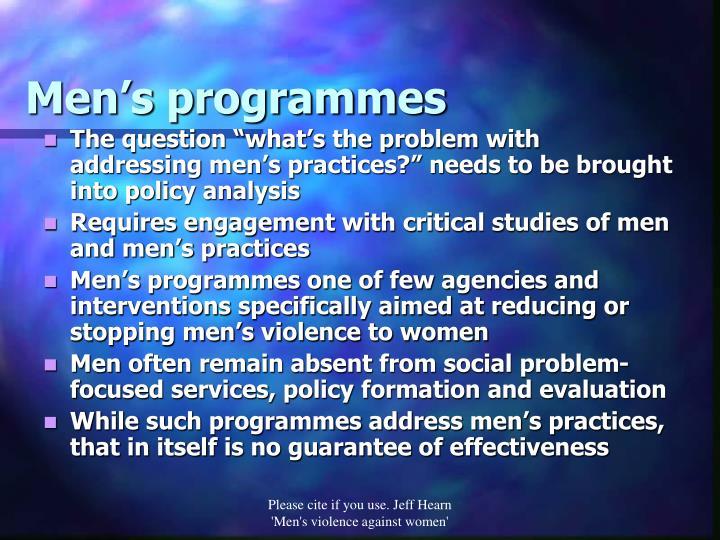 Men's programmes