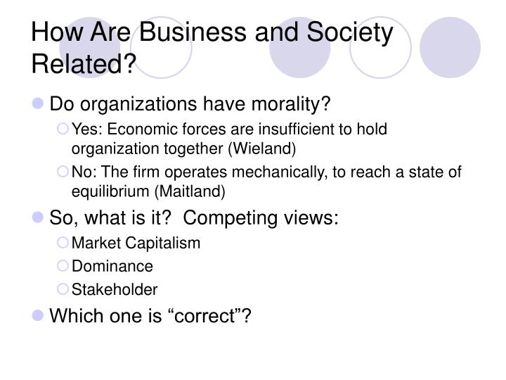 How are business and society related
