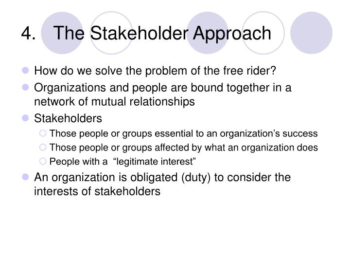 The Stakeholder Approach