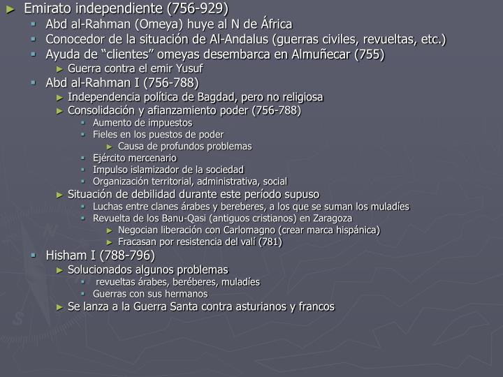 Emirato independiente (756-929)