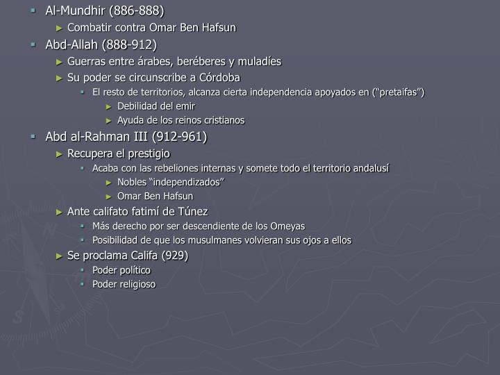Al-Mundhir (886-888)