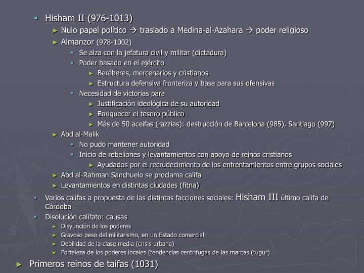 Hisham II (976-1013)