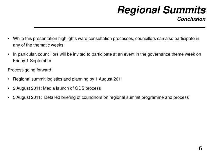 Regional Summits