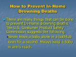how to prevent in home drowning deaths