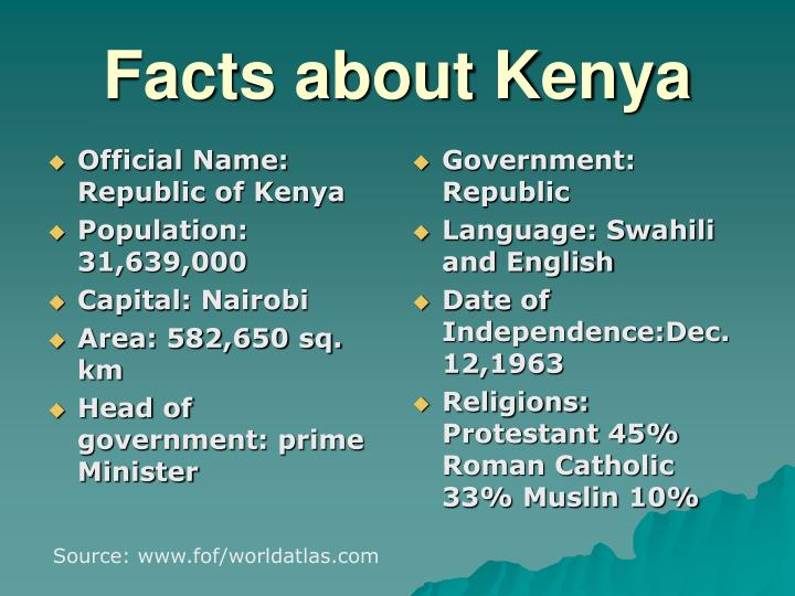 Official Name: Republic of Kenya