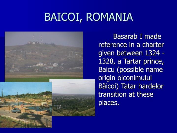 BAICOI, ROMANIA