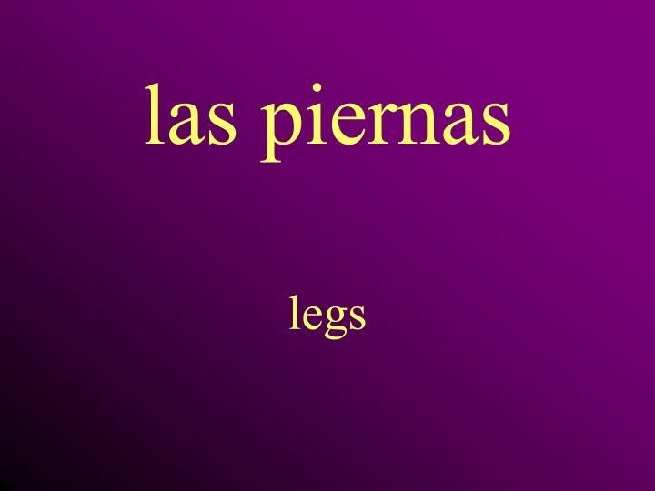 las piernas