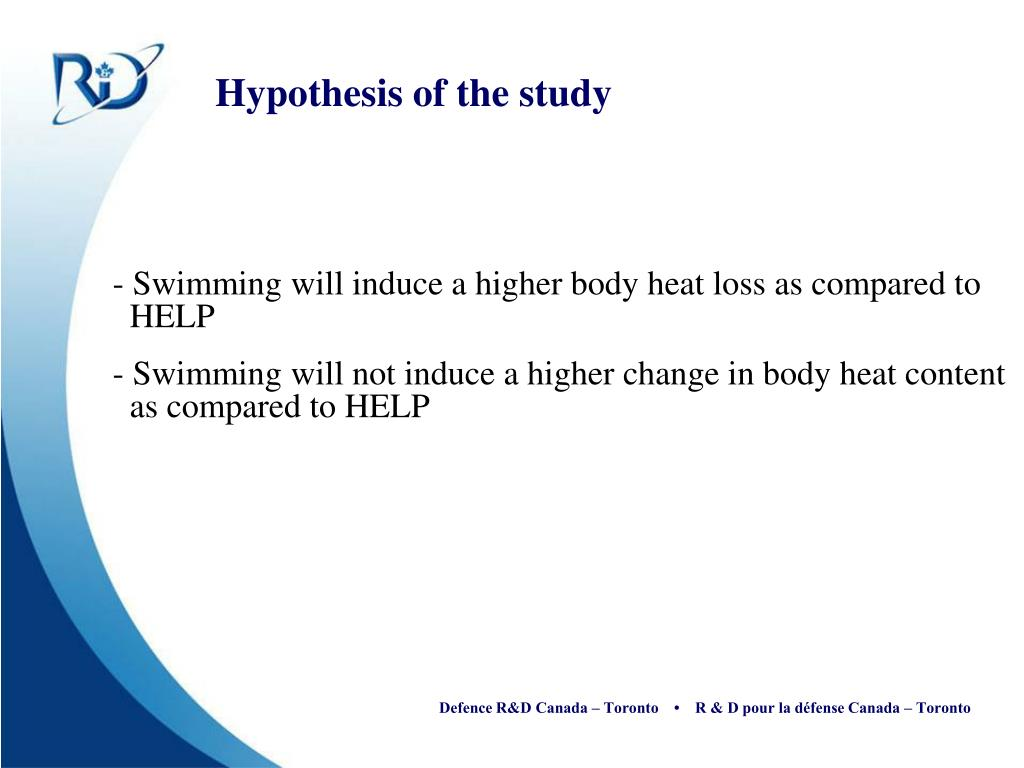Hypothesis of the study