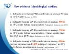new evidence physiological studies