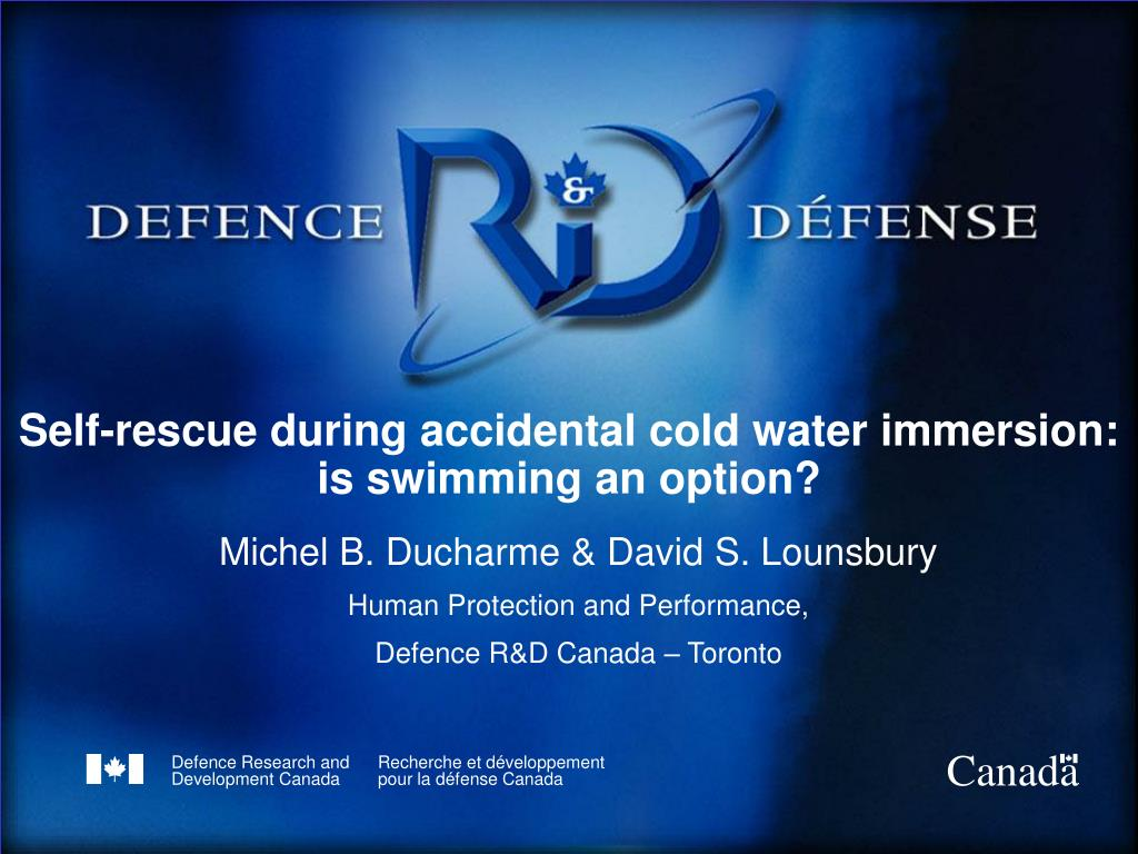 Self-rescue during accidental cold water immersion:
