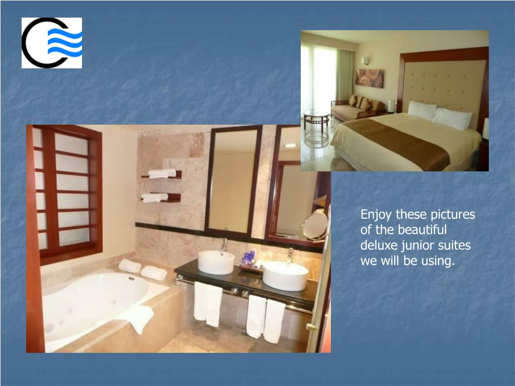 Enjoy these pictures of the beautiful deluxe junior suites we will be using.