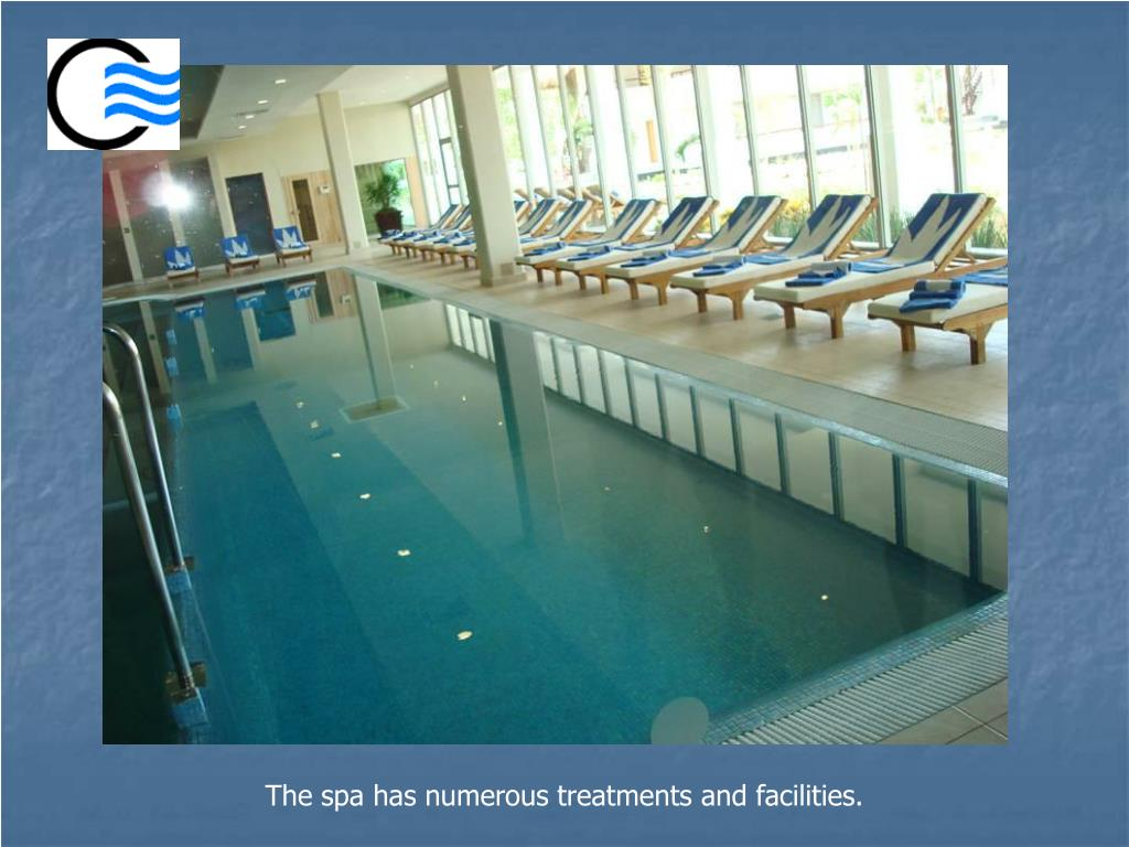 The spa has numerous treatments and facilities.