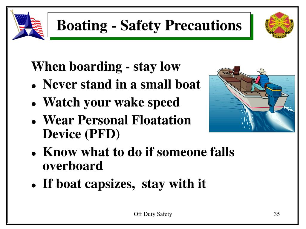 Boating - Safety Precautions