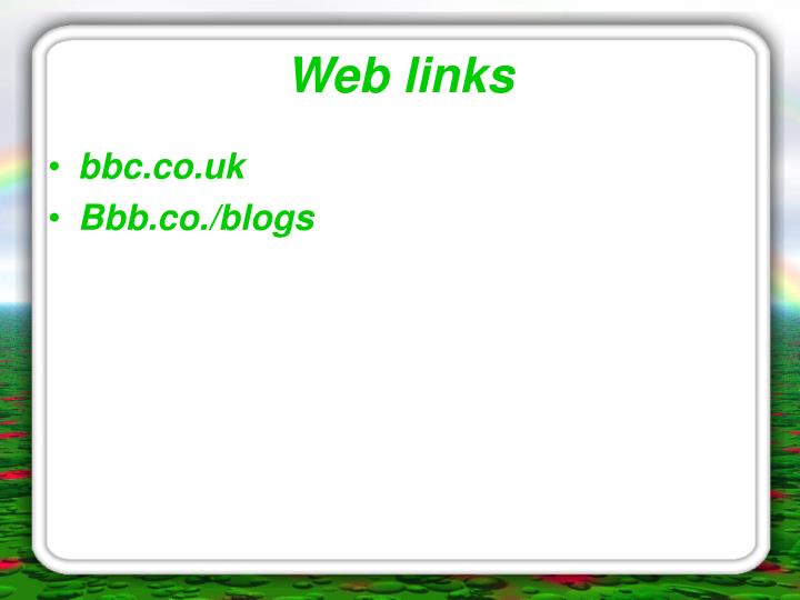 Web links