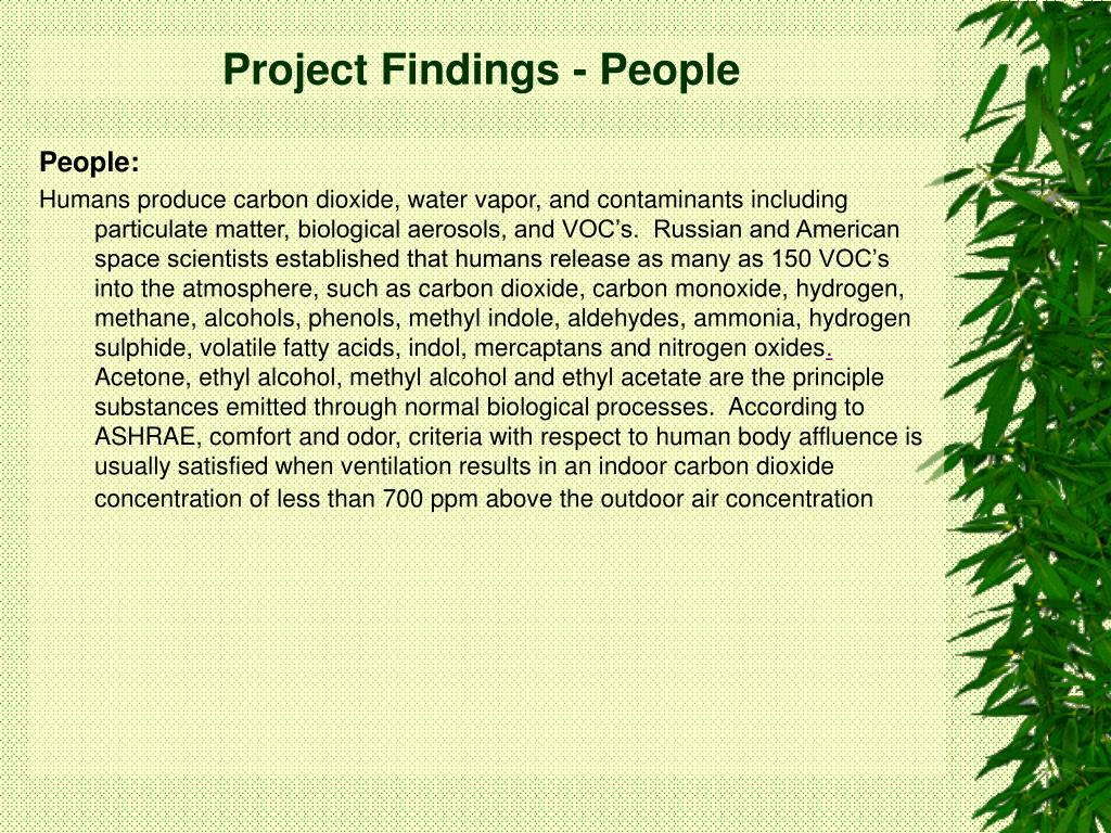 Project Findings - People
